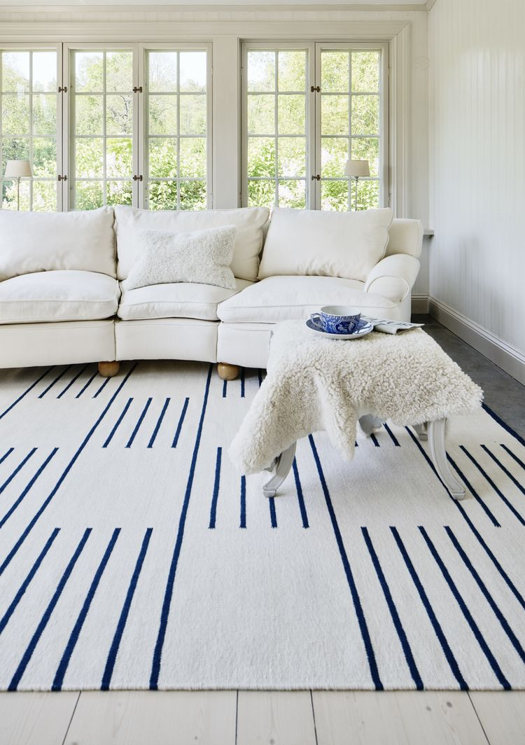 Classic Cream Blue Nordic Knots Navy And White Rug Rugs In Living Room Scandinavian Rug