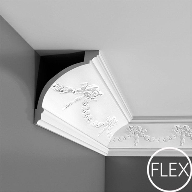 Fc218 Crown Molding Flexible Primed White Face 7 13 16 Length 78 3 4 Request Your Fr Molduras Techo Escayola Techo Molduras