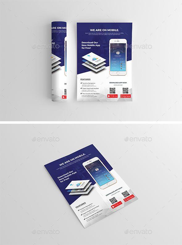 mobile app flyer pinterest mobile app app and flyer template