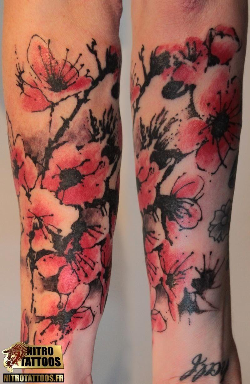 Tatouage Fleur De Cerisier Japonais Tatouage Tatouage Fleur De