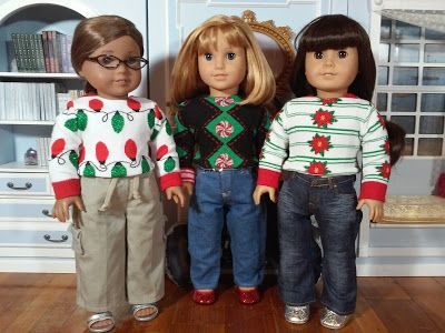 Jinjia Mixed Goods: American Girl Dolls with an Asian Flair: Ugly holiday sweaters and not-so-ugly holiday books