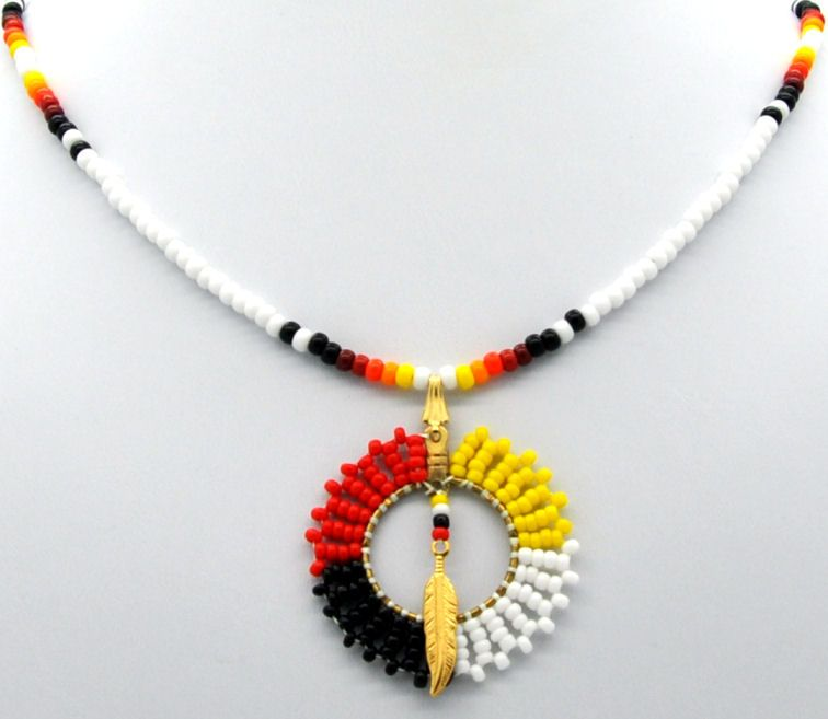 Cherokee indian beaded necklaces page 1 unforgettable for How to make american indian jewelry