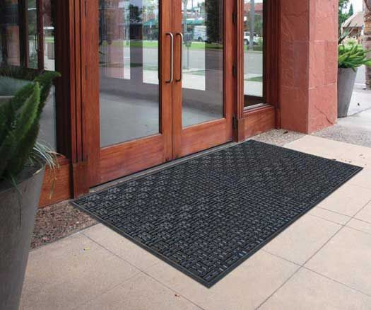 "Aquaflow Mat, 32""x39"" Black Outdoor doors, Rubber door"