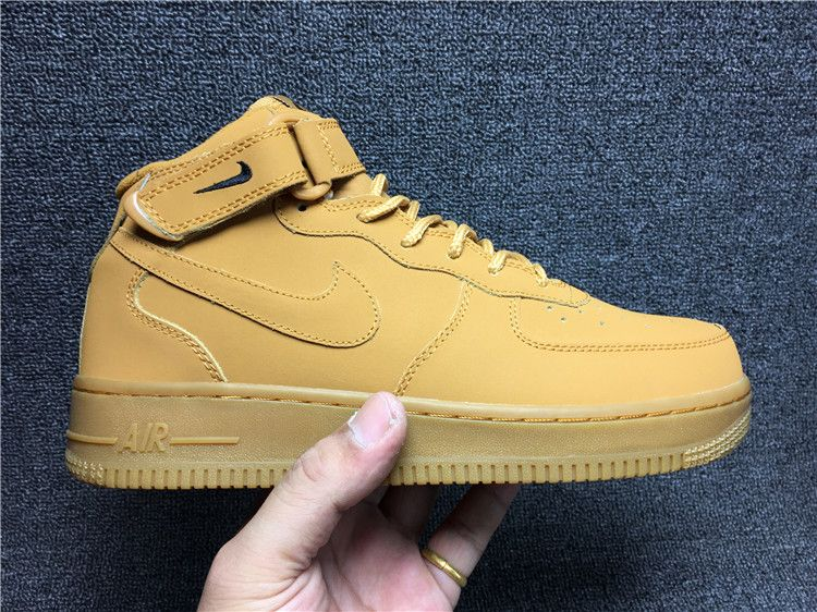 Nike Air Force 1 Men's Sneakers Mid 715889-200 New AF1 Brown Casual  Lifestyle Shoe