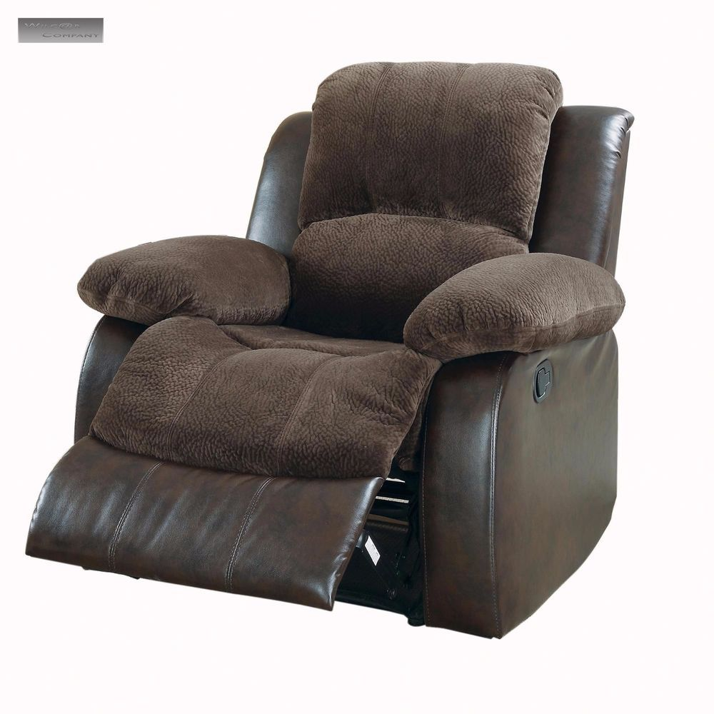 New Brown Microfiber Lazy Boy Reclining Chair Furniture Barcalounger Two Tone Transitional Recliner Chair Furniture Chair Kane Chairs