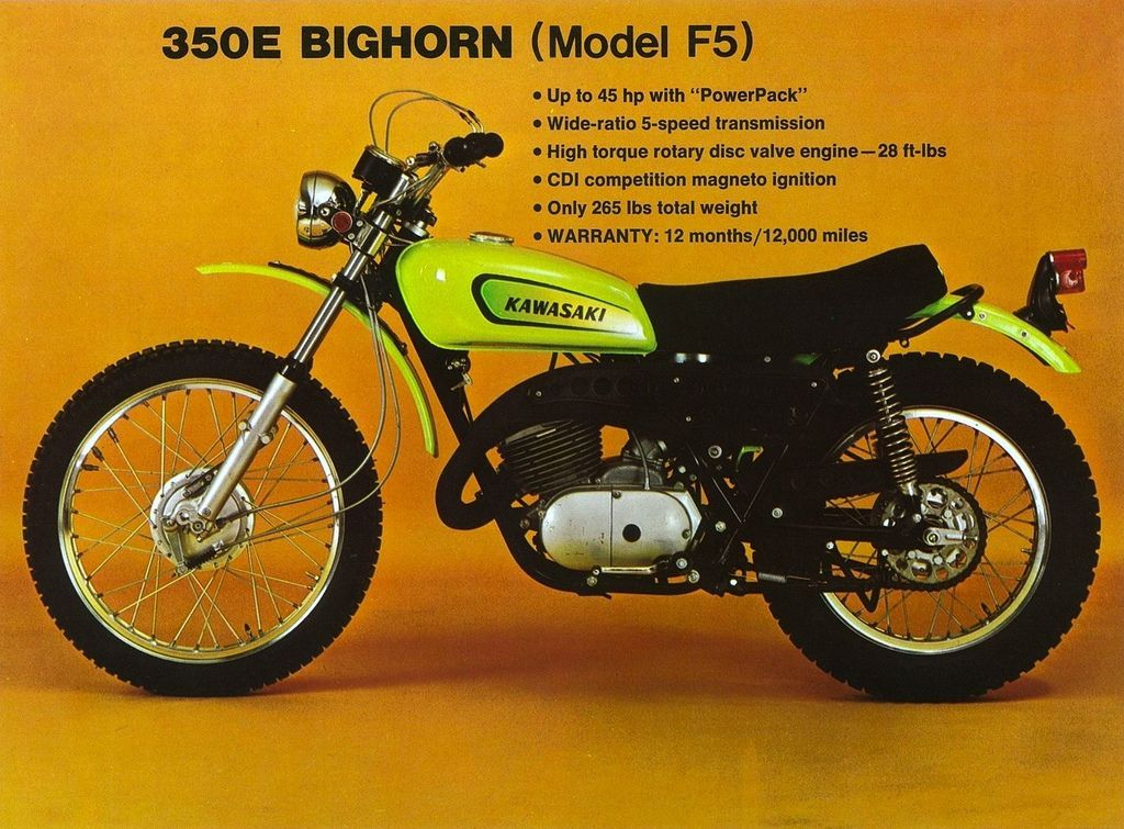 Kawasaki 350 Bighorn Google Search Kawasaki Dirt Bikes Kawasaki Bikes Enduro Motorcycle