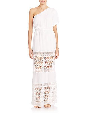 6 Shore Road by Pooja Havana's Maxi Dress - White - Size Medium (6-8)