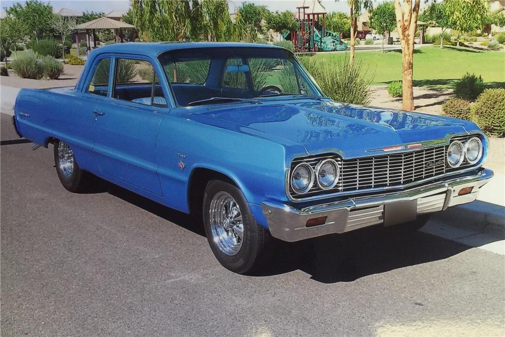1964 Chevrolet Biscayne Custom 2 Door Post Barrett Jackson Auction Company World S Greatest Collector Car Auctions Chevrolet Biscayne Vintage Muscle Cars