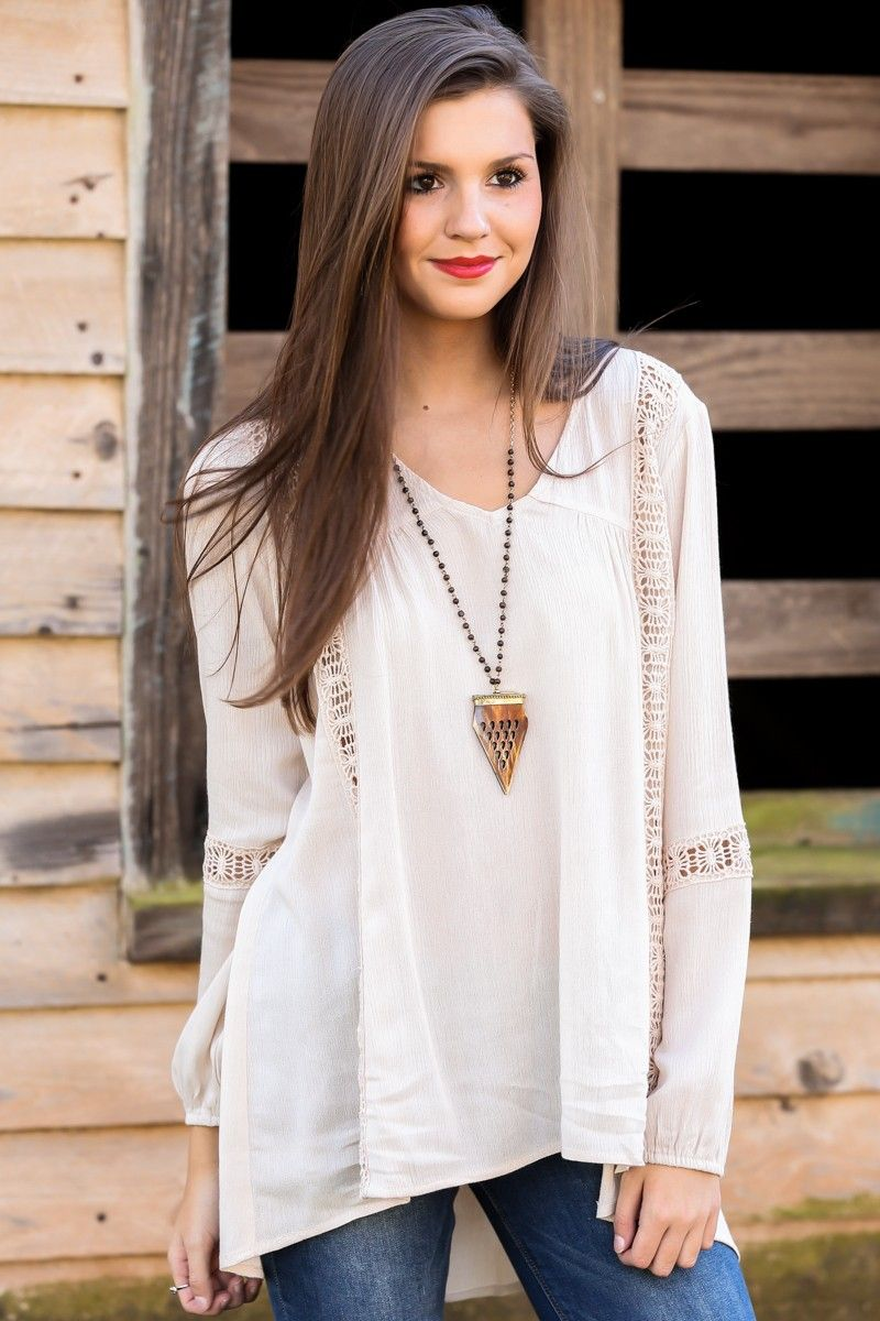 I'll Fly Away Tunic-Beige - New Today