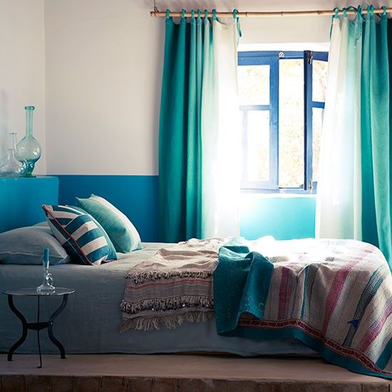 Schlafzimmer Grün Gestalten: Pfau Blau Und Grün Schlafzimmer Wohnideen Living Ideas
