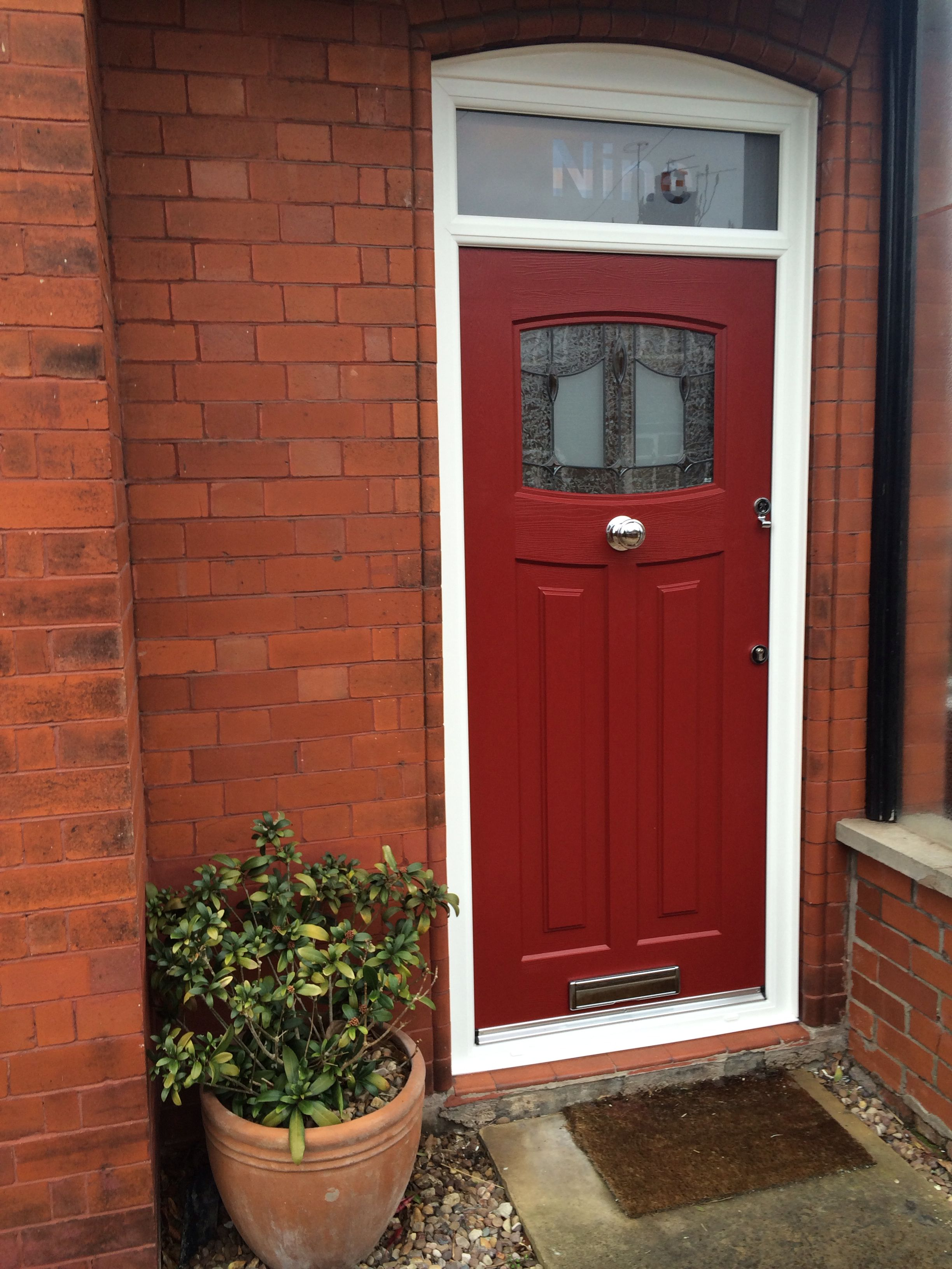 1930s style red rockdoor composite door front doors for 1930s front door styles
