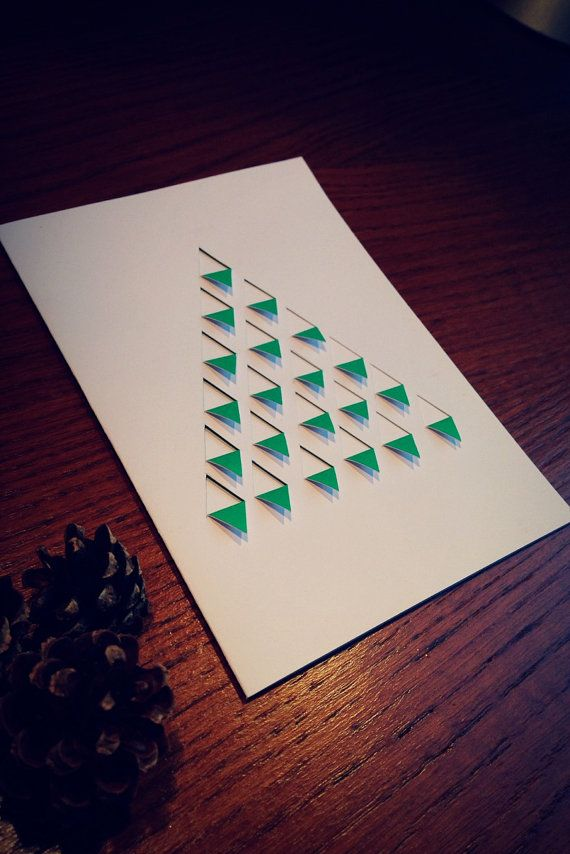 Articles similaires à Sapin Origami Minimaliste sur Etsy