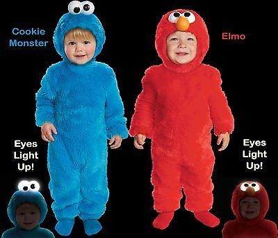 Child Toddler Tv Show Sesame Street Cookie Monster Elmo Light Up Plush Costume Cookie Monster Costume Cookie Monster Costume Toddler Halloween Costumes For Kids