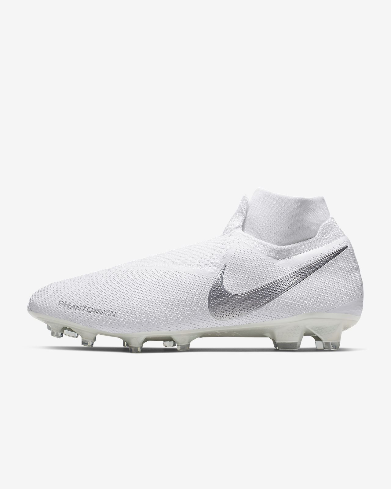 Nike Phantom Vision Elite Dynamic Fit Fg Nuovo White White Metallic Platinum White Phantom Vision Nike Nike Flyknit