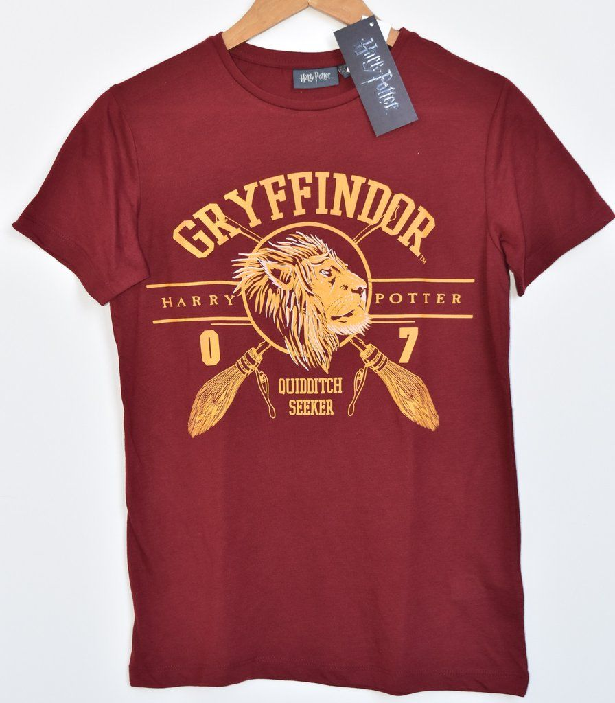 c710ad60 Primark Harry Potter Gryffindor T Shirt Quidditch Womens Ladies UK Size 4-20  NEW