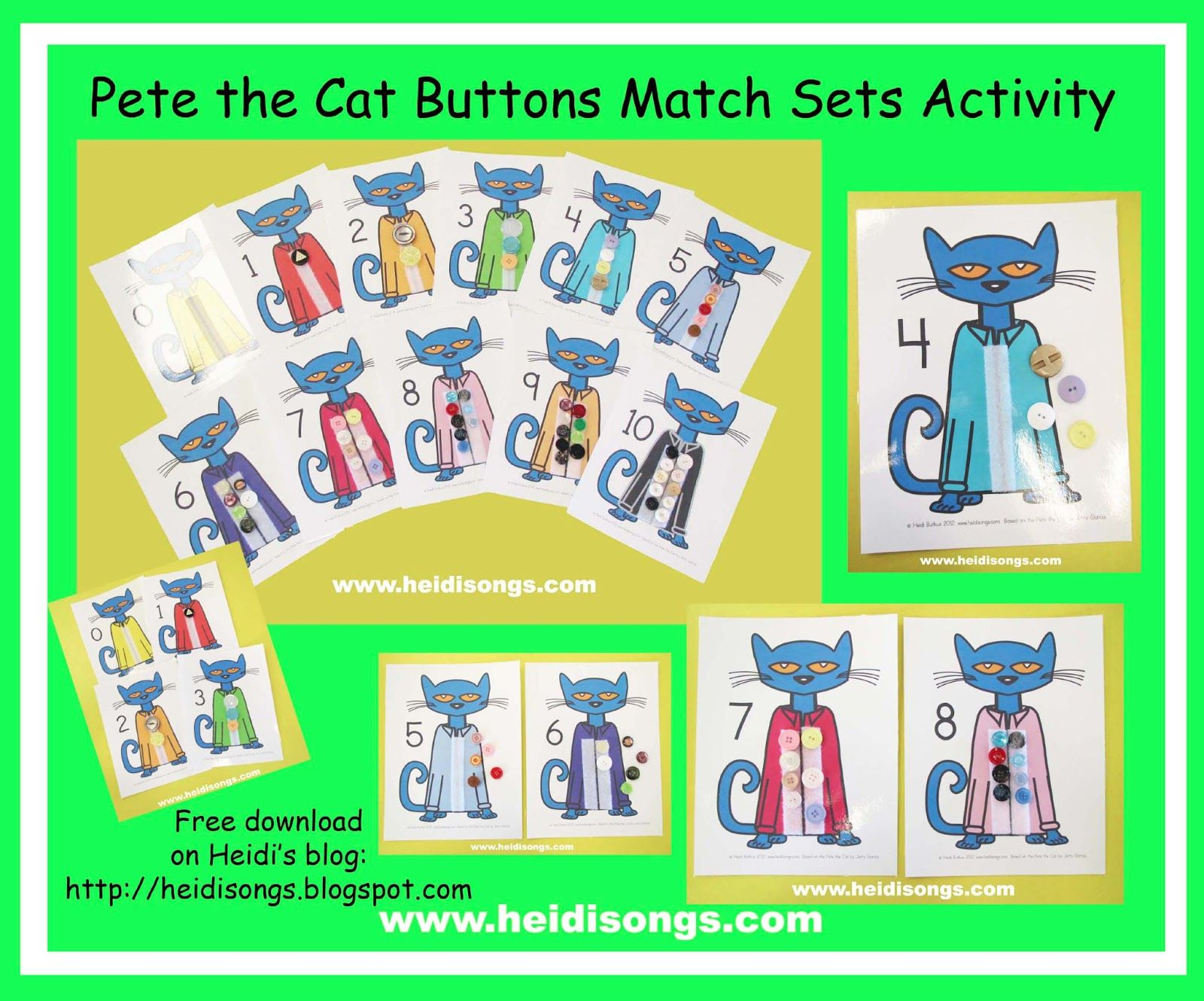 Pete The Cat Buttons Matching Sets