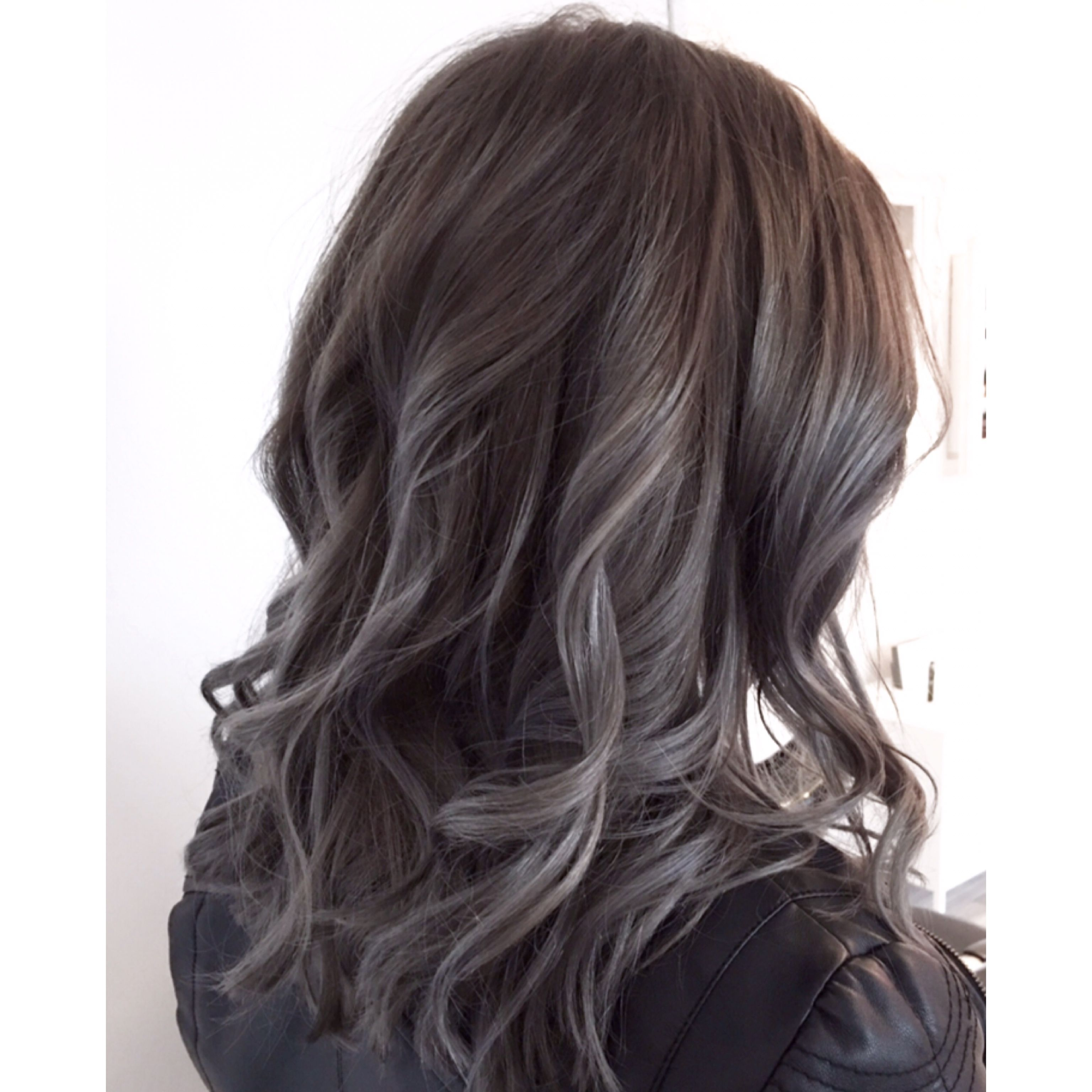 Ash Brown Metallic Grey Charcoalgrey Greybrown Metallicgrey Ashbrown Ashgreyhair Darkgr Ash Hair Color Hair Highlights Hair Highlights And Lowlights