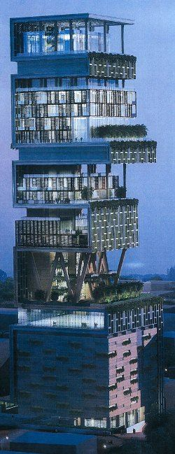 Most Expensive House $2 Billion Mumbai, India  (If I'm not wrong i saw where the people who built never moved in for some reason, anyone know?)