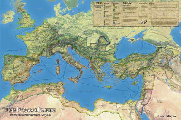 Roman Empire Map for Sale