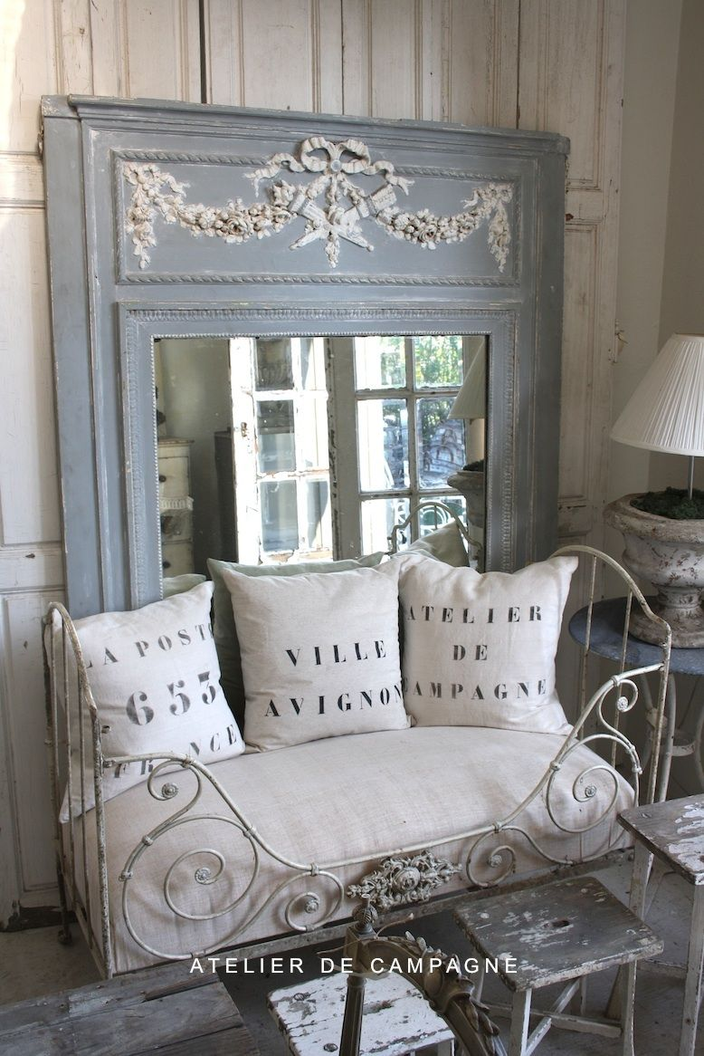 Inspiration in white mirrors ideas for the house pinterest shabby - French shabby chic ...