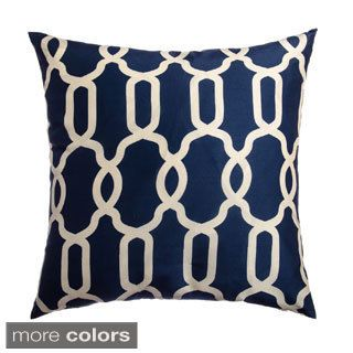 ledbury navy ivory diamond lattice down feather or polyester filled 22inch throw pillow