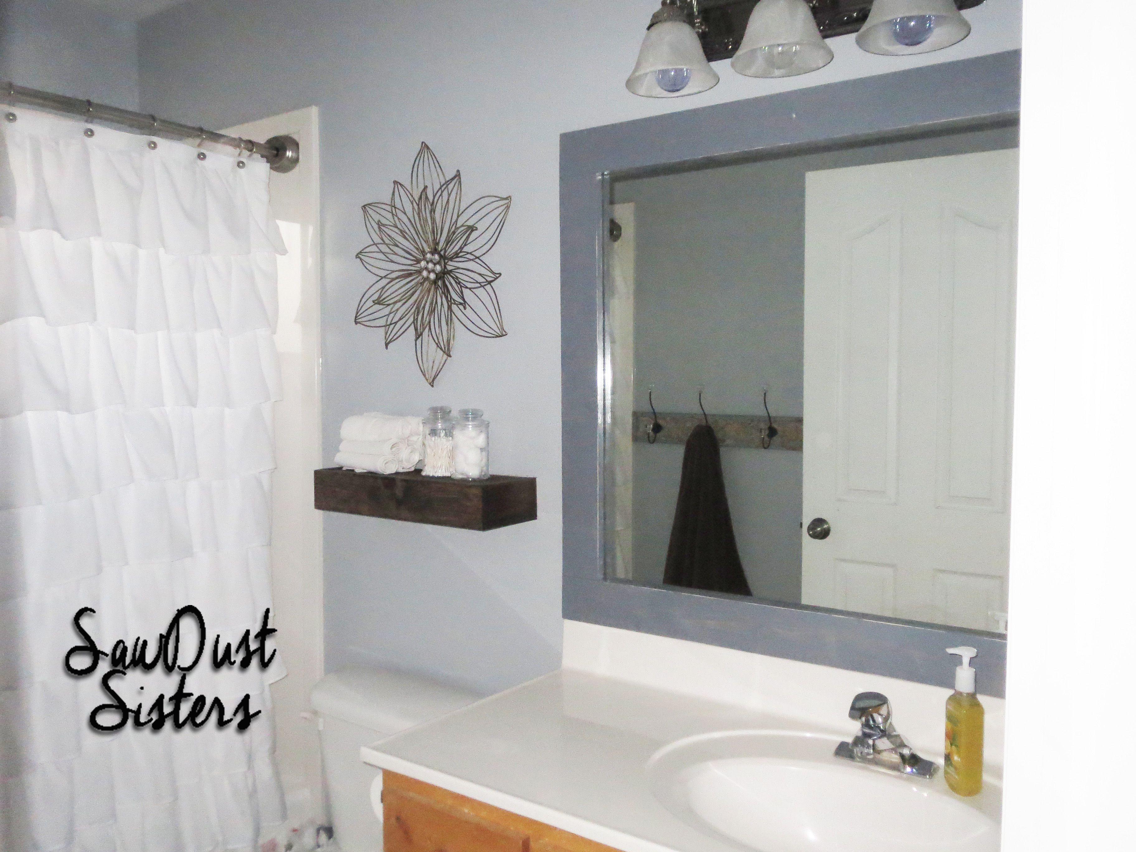 Diy Stick On Mirror Frame Diy Mirror Frame Bathroom Bathroom