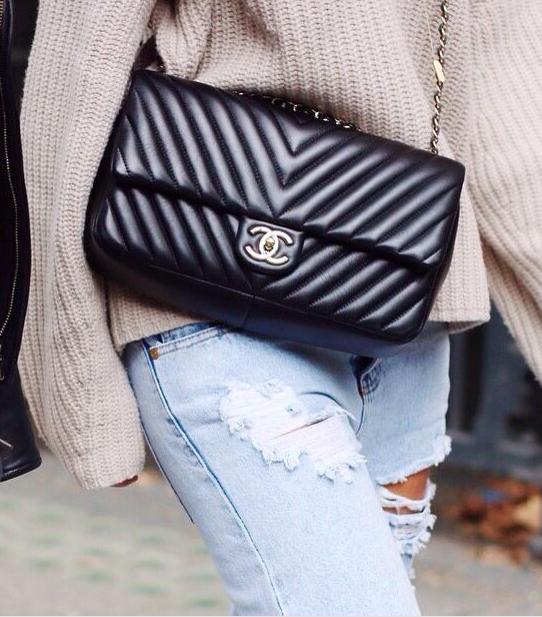 6eca53d80a7c chanel chevron 2.55 flap bag   shoes + bags   Pinterest   Chanel ...