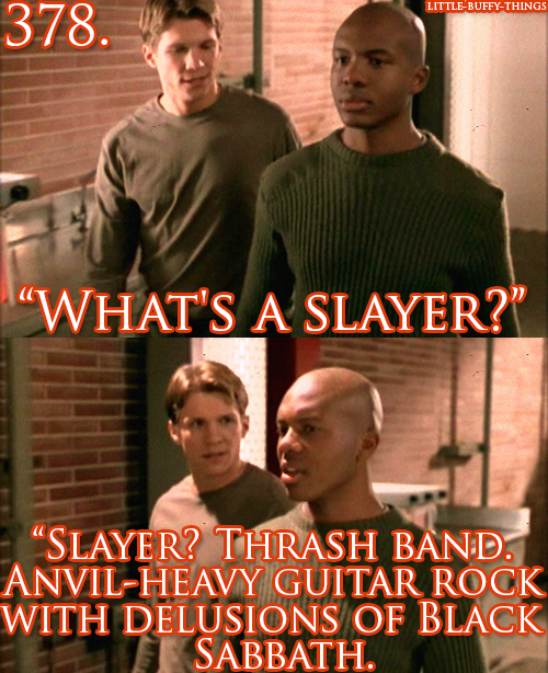 Slayer Thrash Band Anvil Heavy Guitar Rock With Delusions Of Black Sabbath Buffy Buffy The Vampire Slayer Vampire Slayer