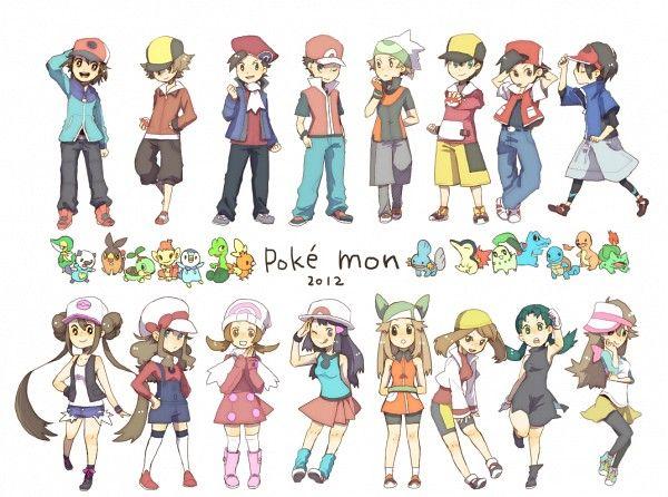 All the Pokemon Trainers clothing swap - Pokémon/#1206593 - Zerochan Pokemon Pinterest Pokémon And Anime