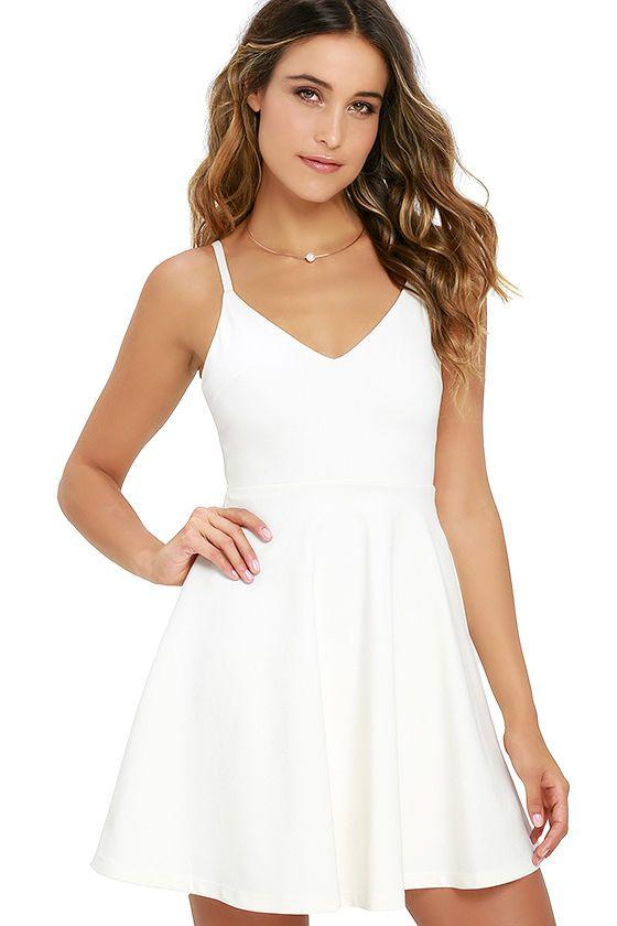 Little White Dresses Long Short White Dresses For Juniors Page 5 White Short Dress White Skater Dresses Cute White Dress