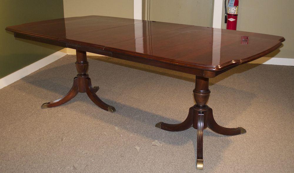 ebay - Bernhardt DBL Pedestal Cherry Dining Table