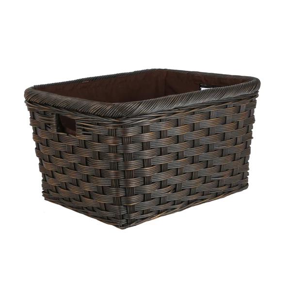 Jumbo Wicker Storage Basket Panier Rangement Panier Rangement