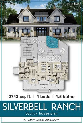 Silverbell Ranch House Plan