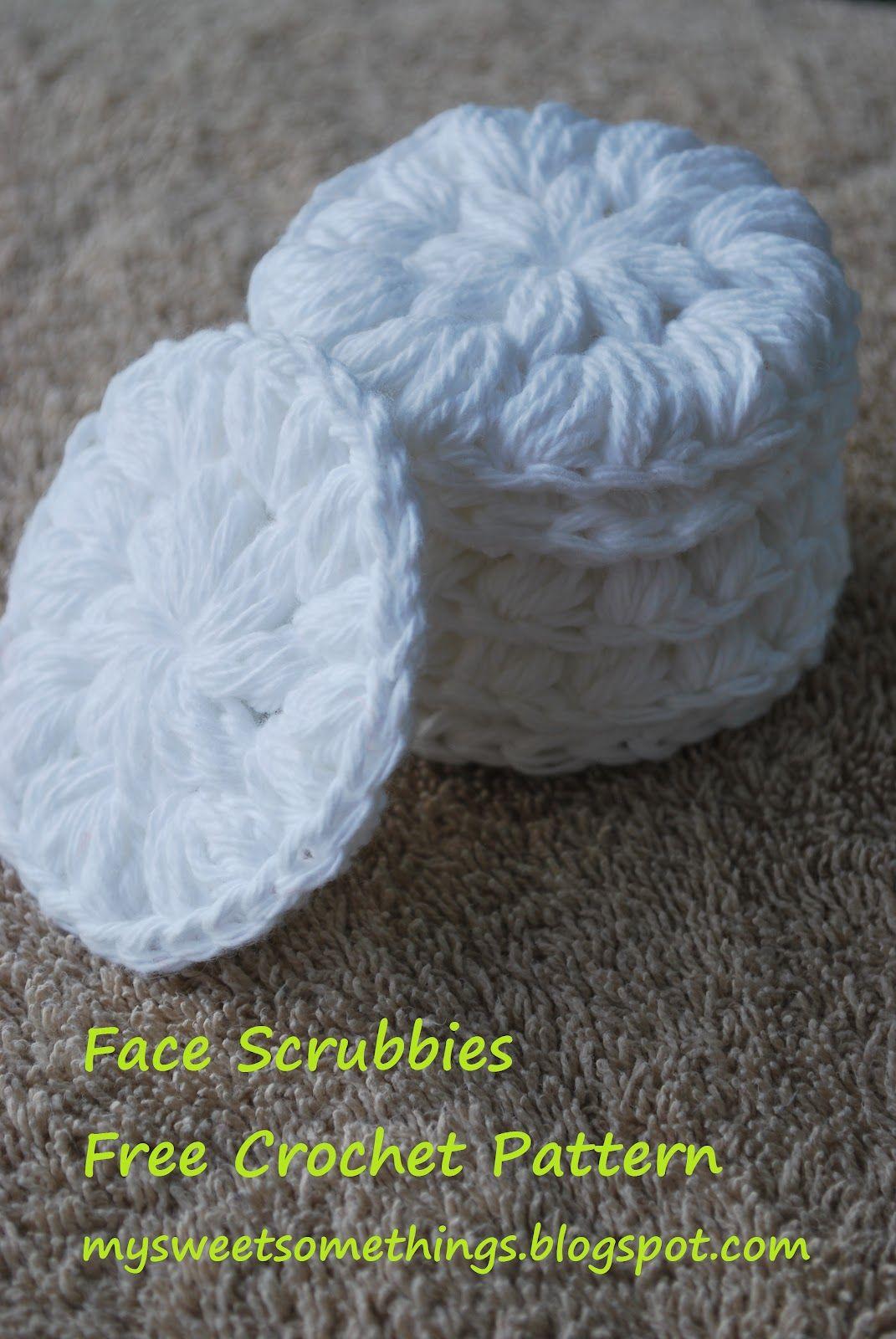 Reusable Crochet Cotton Facial Scrubbies