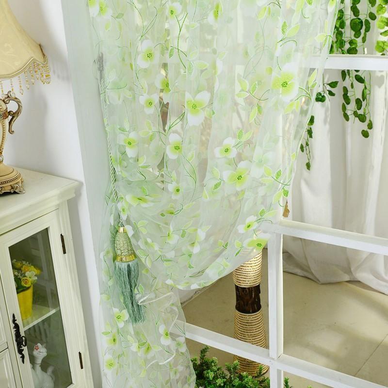 Curtains Colors Scarf Sheer Voile Door Window Curtains Home Textile Colorful Curtains Home Decor