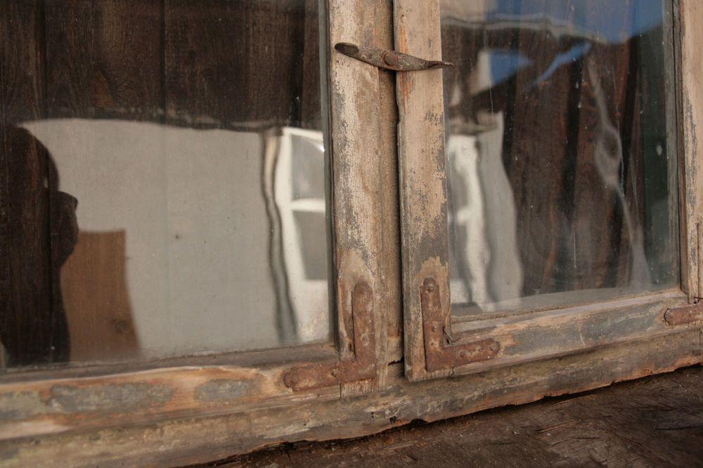 Antike Baustoffe uralte bleiglasfenster sprossenfenster mit patina vintag
