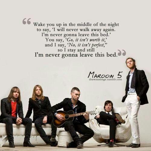 Image of: Adam Levine Im Never Gonna Leave This Bed Maroon Pinterest Im Never Gonna Leave This Bed Maroon Lyrics Maroon