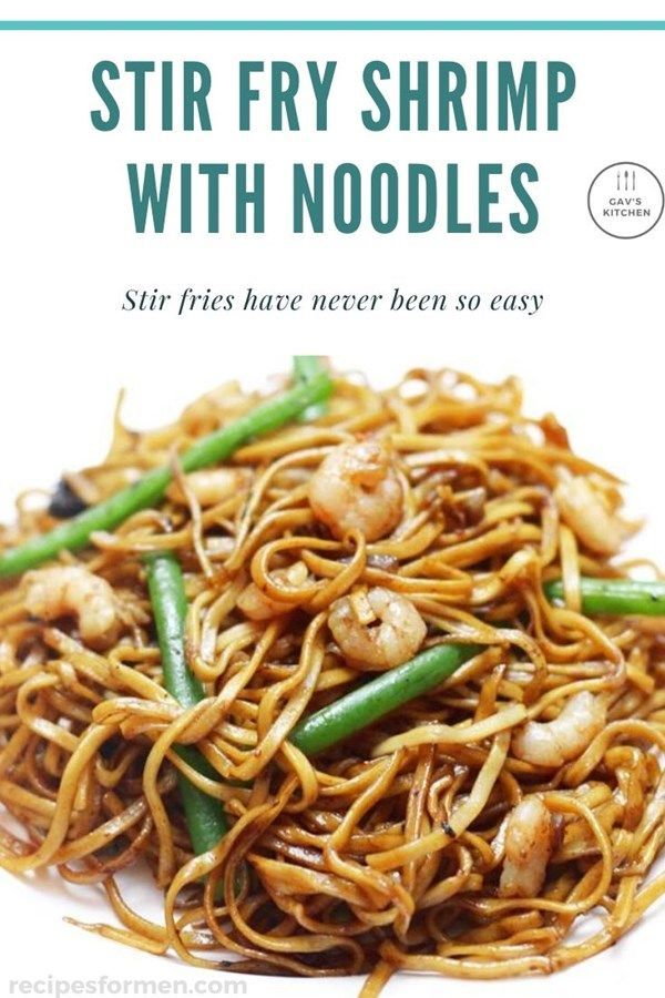 Spicy Shrimp Stir Fry With Noodles - Tasty fried Asian noodles