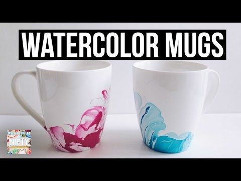 Diy Watercolor Mugs Youtube Marble Mugs Nifty Diy Diy Mugs