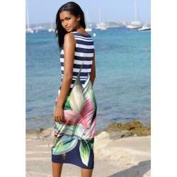 Photo of Alba Moda, beach dress with floral print, blue Alba Moda