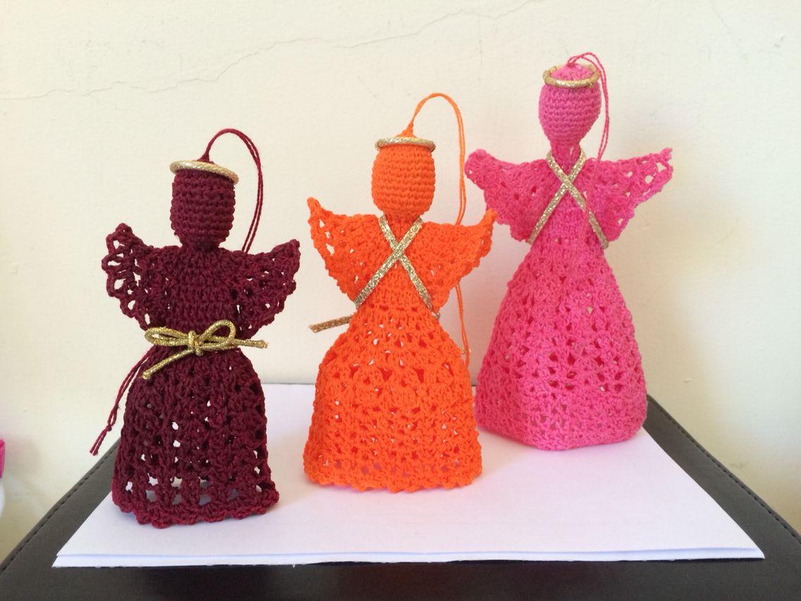 Anjos crochê - Criação Lourdinha Reis Salles