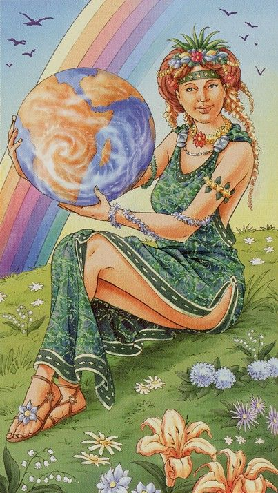 Universal Goddess Tarot The World
