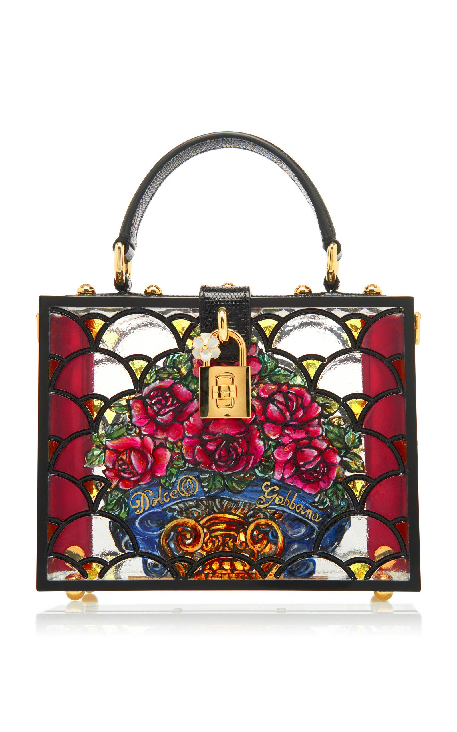 d7b8b176ce Dolce Box Floral-Print Plexi Bag by DOLCE   GABBANA Now Available on Moda  Operandi