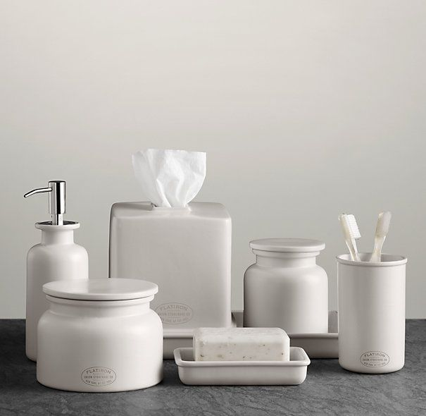 92b80b41752c Flatiron Union Stoneware Bath Accessories - White | HOME | White ...
