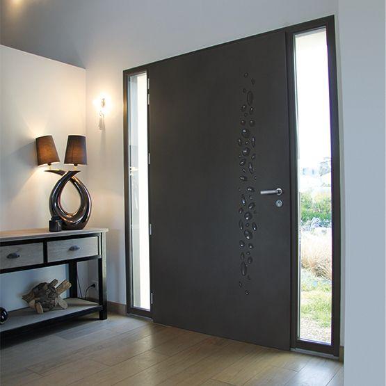 Porte Dentrée Aluminium Portes Porte Entrée Et Entrées - Porte placard coulissante jumelé avec comparatif portes blindées