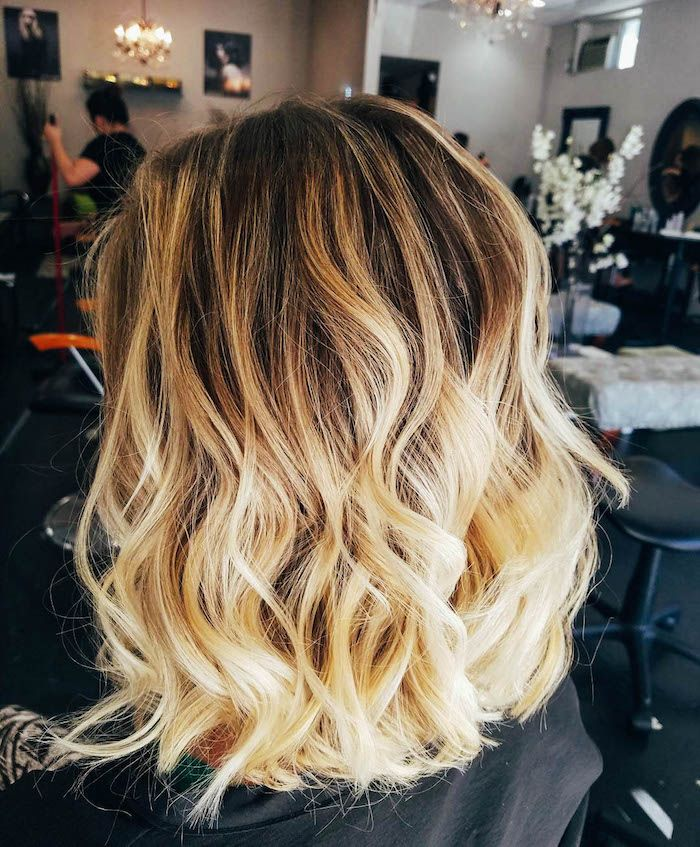 Coupe de cheveux femme mi long natural Long blonde