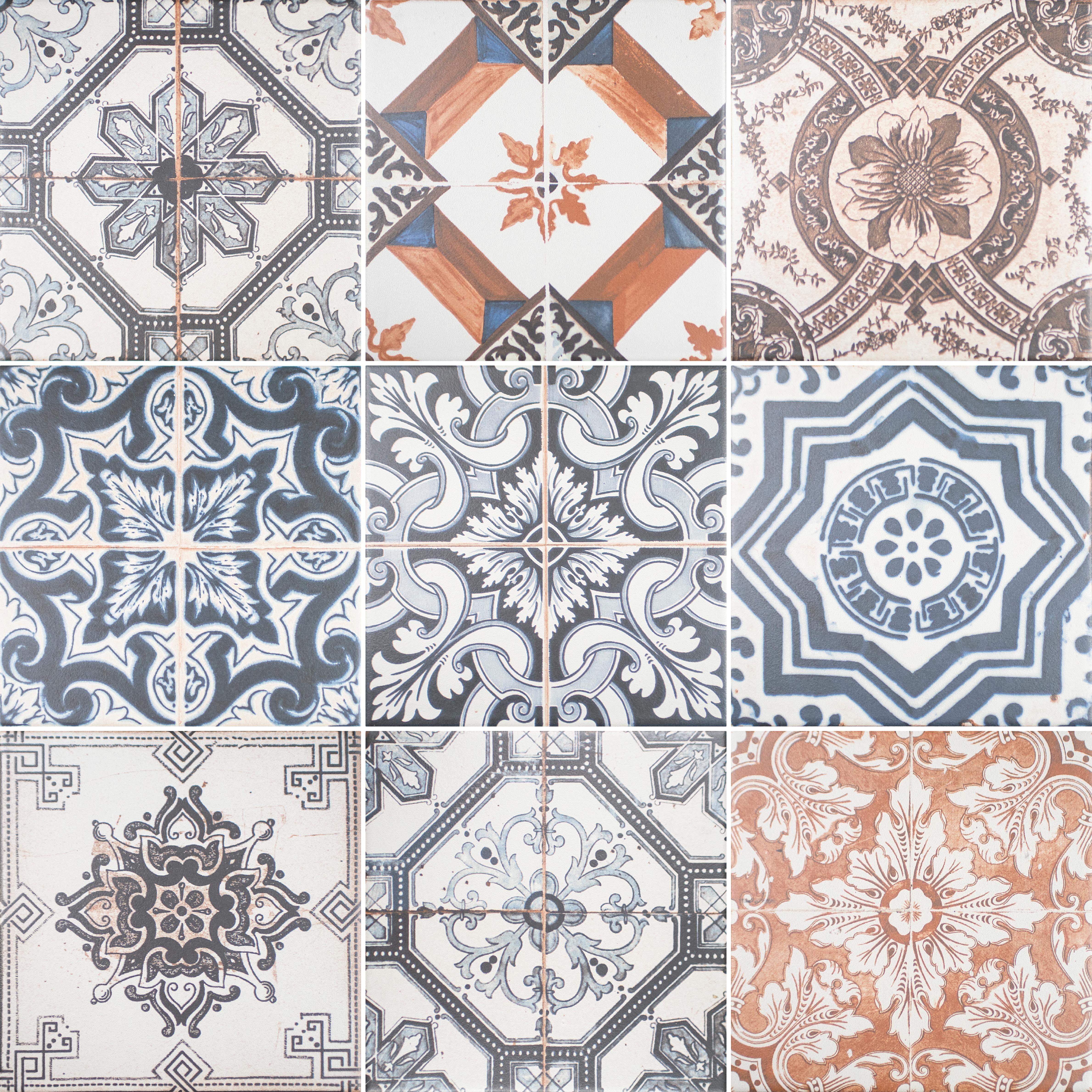 tile tag shower bathroom oaks vintage floor