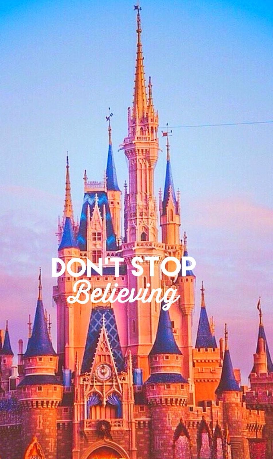 Dont Stop Believing Disney WallpaperWallpaper BackgroundsRainy WallpaperIphone