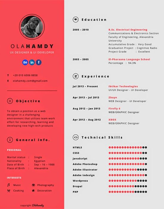 Platilla Currículum Vitae Gratis 02  Free Resume Template 02 - web developer resume template