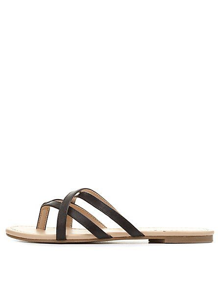 be23319c760f00 City Classified Crisscross Strappy Thong Sandals  Charlotte Russe ...